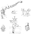 English Caricaturists, 1893 - Thackeray's Sketches.png