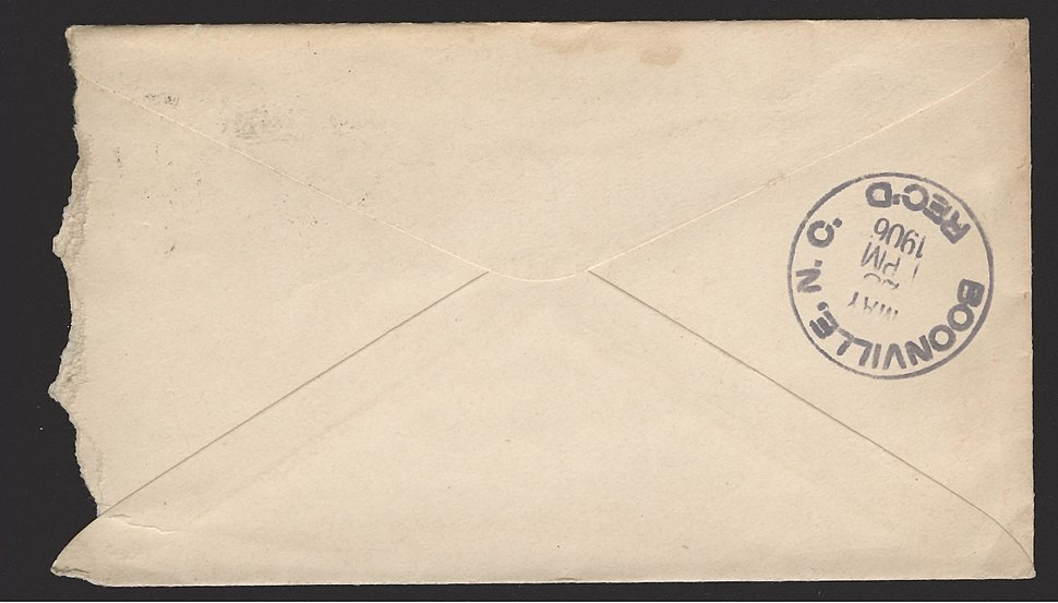 Envelope - Boonville Address-002