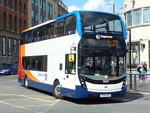 Stagecoach Merseyside - An Alexander Dennis Enviro 400, operating on Route 20 to Kirkby in 2015.