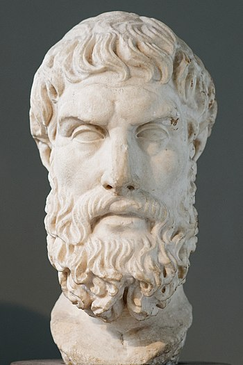 Portrait of Epicurus, founder of the Epicurean...