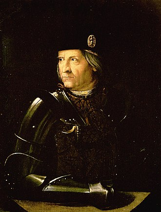 Ercole I d'Este, Duke of Ferrara - Ercole I d'Este, possibly by Dosso Dossi  (Galleria Estense, Modena)