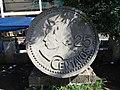 Estatua de moneda de 25 centaus a Santiago Atitlan.JPG