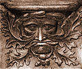 Etching of Vendome Green Man misericord.jpg