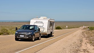 Eyre Highway - The Eyre Highway at Eucla Pass