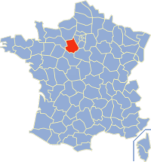 Communes of the Eure-et-Loir department - Image: Eure et Loir Position