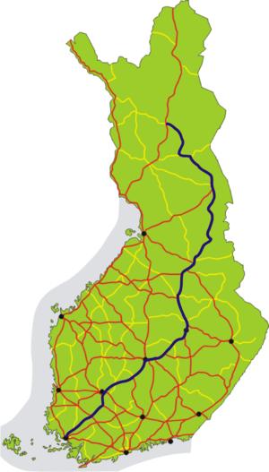 European route E63 - Image: European road 63