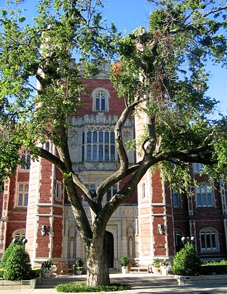 A. Grant Evans - Evans Hall anchors the southern end of the North Oval and is one of the oldest buildings on campus.