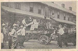 Pressed Steel Car strike of 1909 - Striker workers evicted from Presston homes, 1909