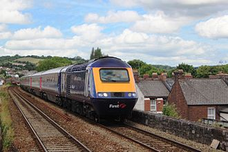 Cornish Riviera Express - First Great Western High Speed Train with a westbound Cornish Riviera at Exeter St Thomas in July 2015
