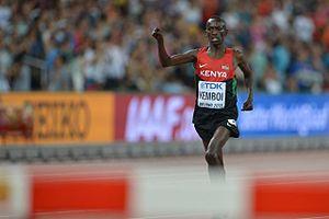 2015 World Championships in Athletics – Men's 3000 metres steeplechase - Kemboi finishing