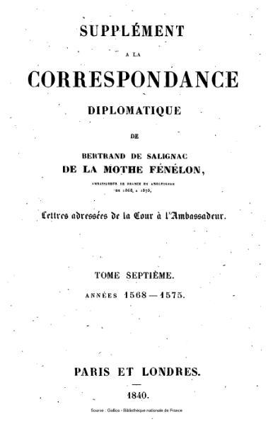 File:Fénelon - Correspondance diplomatique, tome 7.djvu