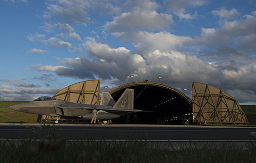 F-22A Raptor of the 95th FS at Spangdahlem Air Base in August 2015