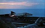 F-4B Phantom II of VF-51 is launched from USS Coral Sea (CVA-43), in 1973.jpg