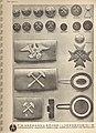 F.W. Assmann & Söhne Lüdenscheid 065 Uniformköpfe Abzeichen. Uniform buttons insignia buckles catalog Nazi Germany 1930s BERGBAU Grubenwehrkreuz Koppelschlösser Schachthut-Kokarden Hammer und Schlegel etc. No known copyright CC.jpg