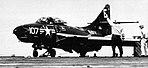 F9F-6 Cougar of VF-61 aboard USS Lake Champlain (CVA-39), circa in 1954.jpg