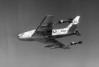 VC-7 - Image: FJ 4 VU 7 with towed aerial targets 1960