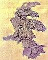 Facial portrait of a nobleman of Central Asian type, Noin-Ula carpet, 1st century BCE - 1st century CE.jpg