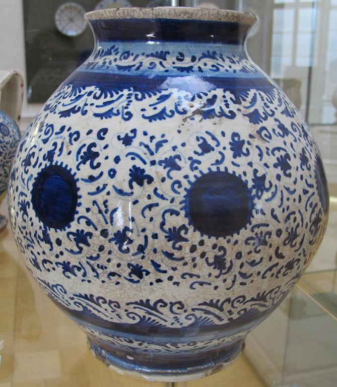File faenza vaso sferico con decorazione alla porcellana for Decorazione wikipedia