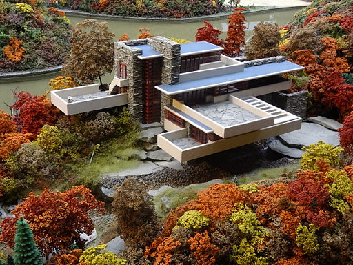 Fallingwater miniature model at MRRV, Carnegie Science Center