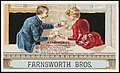 Farnsworth Bros. A compromise. He- Seal Brand coffee leads the rest. She- 'Royal Gem tea brand is best.' He- Still we need not disagree, mine's best coffee- your's best tea' She-'Thus to fix it. I'm not loath since Chase and Sanborn imp.jpg
