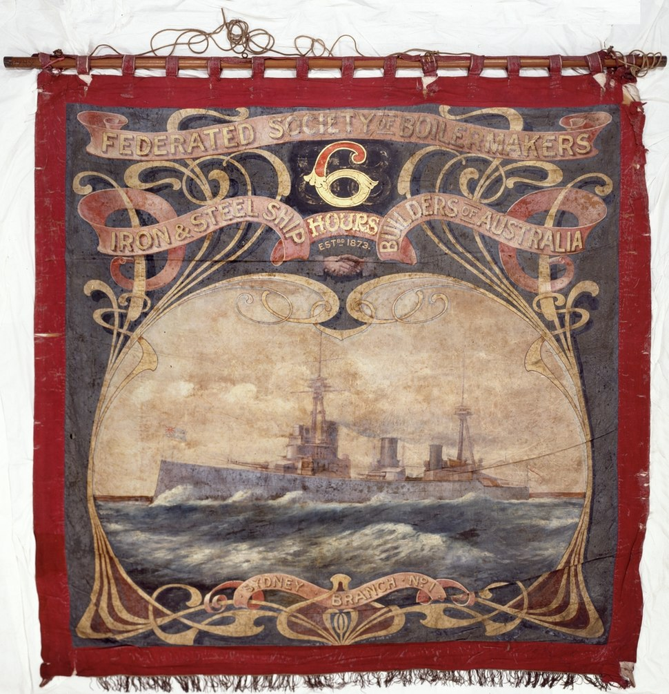 Federated Society of Boilermakers Iron & Steel Shipbuilders of Australia Banner a928322