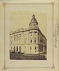 Ferenciek tere - Reáltanoda utca sarok, Egyetemi Könyvtár, 1875 körül - Budapest, Fortepan 82181.jpg