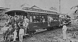 Panzós - Image: Ferrocarrilverapaz 1895