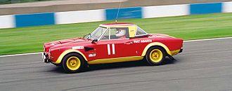 Fiat 124 Sport Spider - Fiat 124 Abarth at Sliverstone circuit 2003