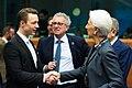 Finanzminister Gernot Blümel bei der Euro-Gruppe in Brüssel (49417808448).jpg