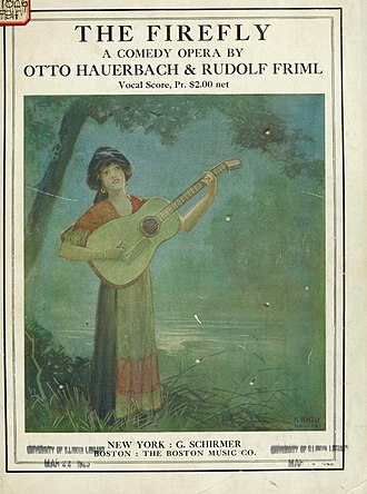 The Firefly (operetta) - Frontispiece of vocal score