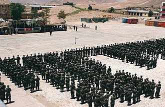 Afghan National Army - The first batch of graduates of the new Afghan National Army (ANA) in 2002