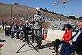 First concrete ceremony for Folsom Dam spillway (7264610626).jpg