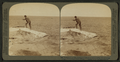 Fisherman at lake turning to cook in a boiling spring the trout just caught, Yellowstone Park, U.S.A, by Underwood & Underwood 4.png