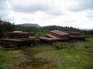 Fjell Fortress - Remains from the armour placed in addition to the already existing turret-armor, when the gun was placed at Fjell.
