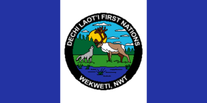 Wekweeti - Image: Flag of the Dechi Lao'ti First Nations (Wekweti)