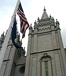 Flags at SLC Mormon Temple.jpg