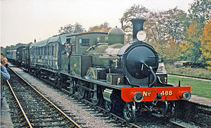 LSWR 415 class -  No. 488 at Sheffield Park on the Bluebell Railway 25 October 1975.
