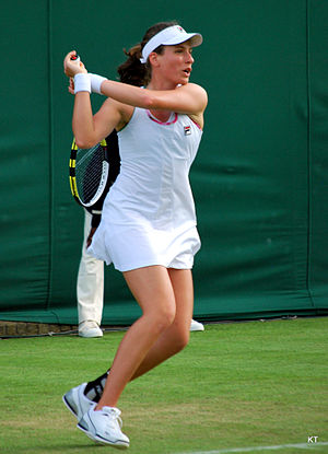 Johanna Konta - Konta during her first-round match at the 2012 Wimbledon Championships