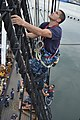 Flickr - Official U.S. Navy Imagery - A Chief Select climbs the main mast. (1).jpg