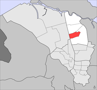 Floral Park (Hato Rey) - Floral Park (red) within Hato Rey Central (white) and Hato Rey (light gray)