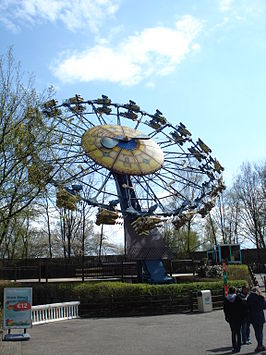 De attractie als Fly Away in Bobbejaanland.
