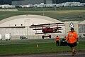 Fokker Dr.I Manfred Richthofen Landing 03 Dawn Patrol NMUSAF 26Sept09 (14599914995).jpg