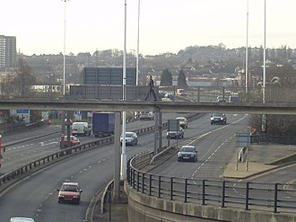 Transport in Leeds - Inner Ring Road By the International Pool