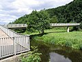 Footbridge over the River Gala - geograph.org.uk - 207488.jpg