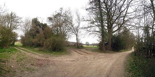 Footpath Junction on Pilgrims Way - geograph.org.uk - 1801123