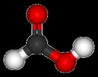 Prostorový model molekuly kyseliny mravenčí