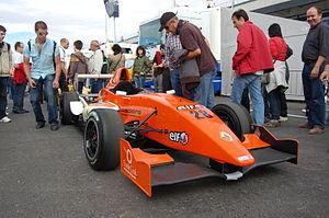 Luciano Bacheta - Luciano Bacheta's Eurocup Formula Renault 2.0 car at Ciudad del Motor de Aragón in 2009.
