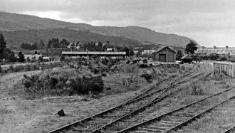 Invergarry and Fort Augustus Railway - Remains of the station and yard at Fort Augustus, photographed in 1948
