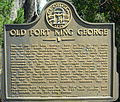 Fort King George marker, McIntosh County, GA, US.jpg