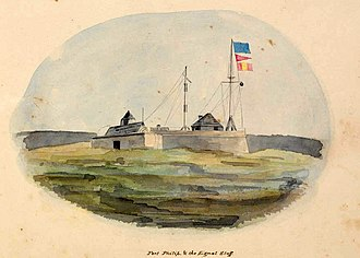 Observatory Park, Sydney - Fort Philip in 1842